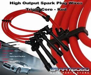 10 2mm Racing Spark Plug Wire Set Red 88 00 Sohc Honda