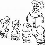 Story Telling Kindergarten Coloring Fun sketch template