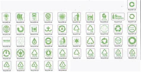 recycling symbols  sign maker