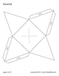 printable  cube template color  cut   fold