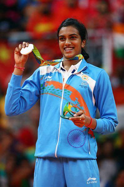 silver medalist  sindhu pusarla  india celebrates
