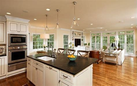 open kitchen great room floor plans open concept kitchen pros cons and how to do it right 9008