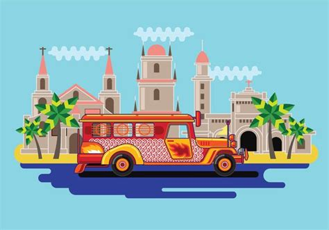 jeepney philippines art free filipino jeepney vector download free vector art
