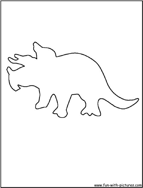 dinosaur outline coloring page