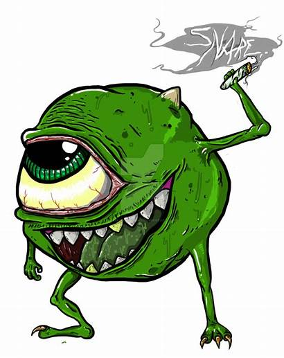 420 Cartoon Mike Wazowski Drawing Clipart Marijuana