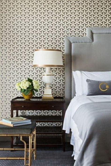 captivating bedrooms  geometric wallpaper ideas