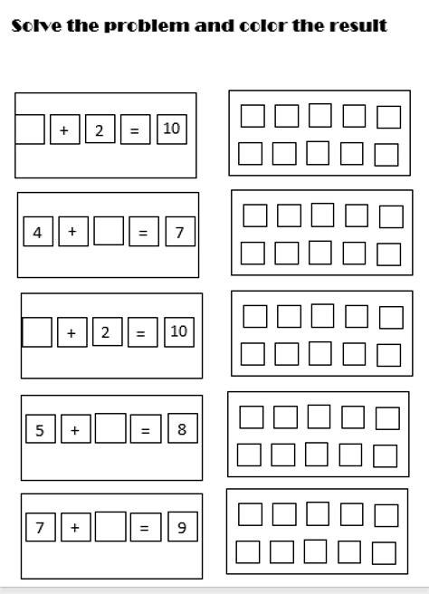 simple addition worksheet  images addition