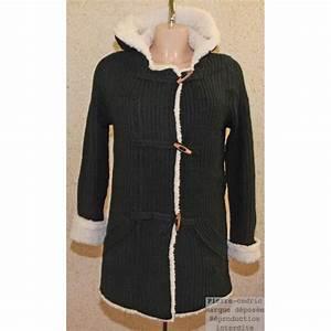 Gilet Long Noir Femme : veste gilet laine long femme capuche noir achat ~ Voncanada.com Idées de Décoration