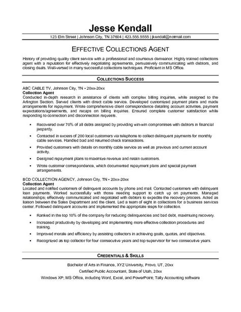 Collections Manager Resume Exles by Exle Collection Resume Free Sle
