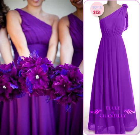 purple bridesmaid dresses tulle chantilly wedding blog
