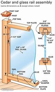 How to Build a Cedar Deck Railing with Glass | The Family ...