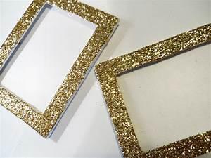 my fave: DIY glitter frames | ...by allison