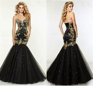 Sell Gorgeous Mermaid Evening Gown Gold Lace Crystals ...