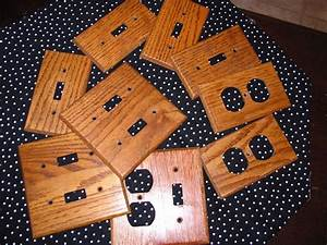 Lot, Of, 9, Wood, Light, Switch, Plate, Covers, Outlet, Covers
