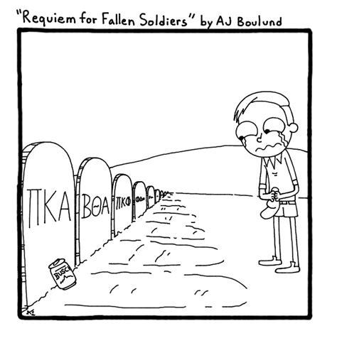 cartoon requiem fallen soldiers daily iowan