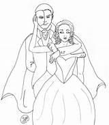 Phantom Opera Coloring Pages Drawings Deviantart Printable Getcolorings Fan sketch template