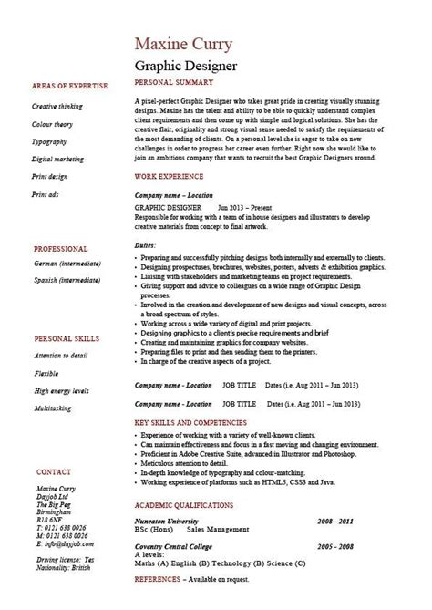 resume for graphic designers graphic design resume designer samples examples job