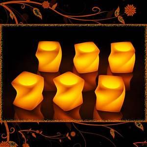 Led Kerzen Echtwachs : 6 led flammenlose kerzen echtwachskerzen wachskerze echtwachs wachs eckig ebay ~ Eleganceandgraceweddings.com Haus und Dekorationen