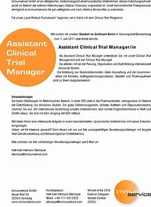 stellenangebot assistant clinical trial manager in in With clinical trial assistant jobs