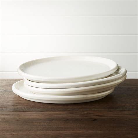 set   farmhouse white dinner plate crate  barrel