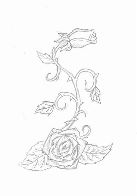 Rose vine tattoo by InfiniteDamnation on DeviantArt (With