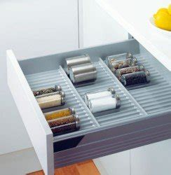 blum kitchen drawer organizers peka spice rack drawer insert blum systems 400 500 600mm 4851