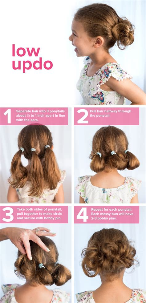 5 Fast Easy Cute Hairstyles For Girls Low Updo