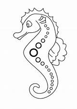 Coloring Seahorse Printable Sea Cartoon Line Dotted Horse Patern Mosaic Animals Drawing Lovely Colouring Seahorses Sheets Animal Everfreecoloring Drawings Creatures sketch template