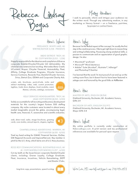 Copywriter Resume Template by Resume Copywriter Editor