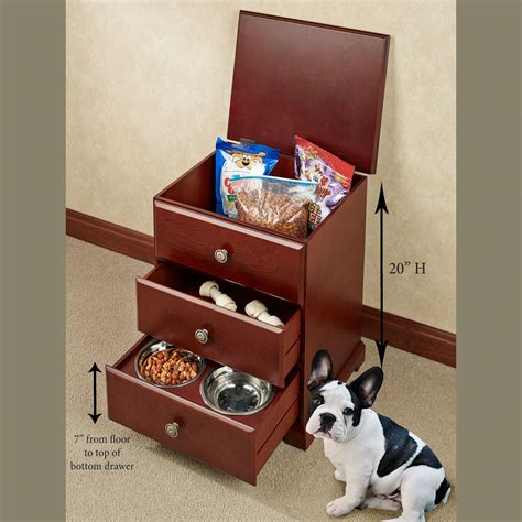 Food Storage Cabinet by Pet Food Hideaway Storage Unit With Bowls