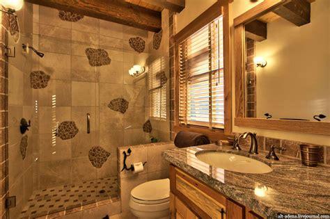 mountain style home decorated  rustic style