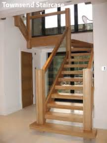 Stair Runner Over Carpet by Contemporary Oak Townsend Staircase Glass Balustrade