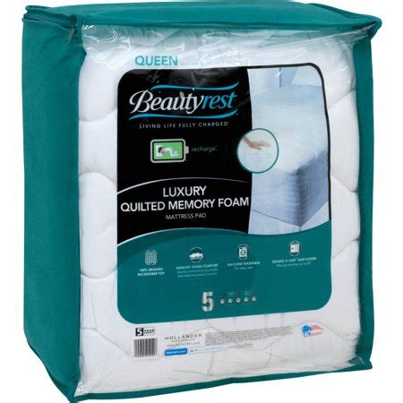 mattress pad walmart beautyrest quilted memory foam mattress pad walmart