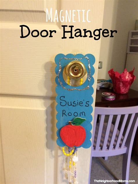 diy door hanger diy magnetic seasonal doorhanger the neighborhood