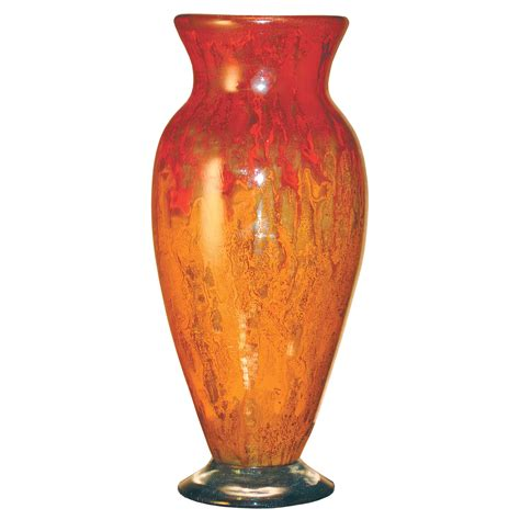Orange Vase by Pictured Here Is The Orange Glow Glass Vase From Couleur