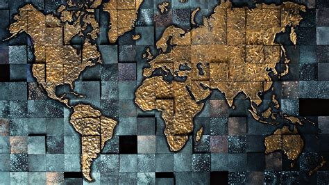 World Map in Tiles Background | HD Wallpapers