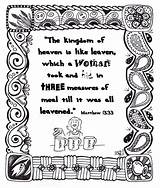 Coloring Printable Parable Yeast Bread Printables Jesus Minas Leaven Bible Template Faith Teachings sketch template
