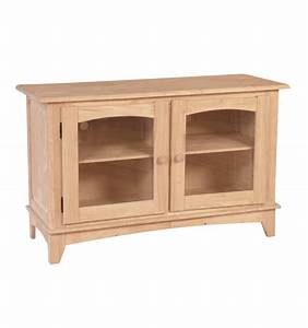 48 inch hampshire tv console bare wood fine wood With 48 inch media cabinet