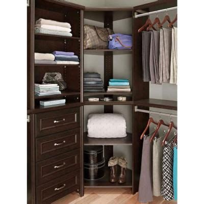 closetmaid corner shelf organizer closetmaid impressions 28 7 in x 28 7 in x 41 1 in