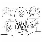 Coloring Tentacles Monster Pages Additions Newest Freeprintablecoloringpages sketch template