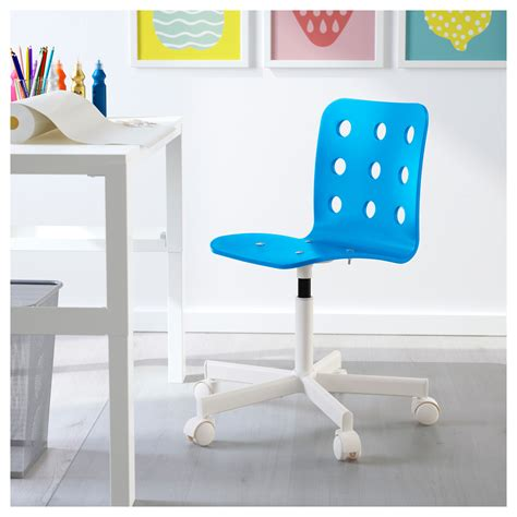 jules children s desk chair blue white ikea