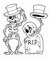 Halloween Coloring Pages Ausmalbilder Colouring Sheets Printable Skeleton Skelett Angry Skull Sheet Easy Print Books Skeletons Monster Ausmalen Ausdrucken Headstone sketch template