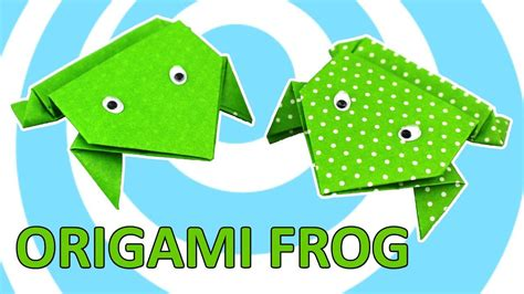 origami jumping frog easy tutorial  kids