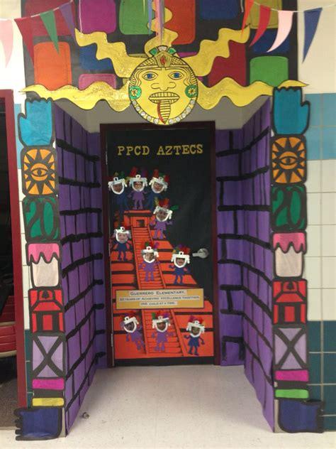 aztec door classroom door decorations spanish