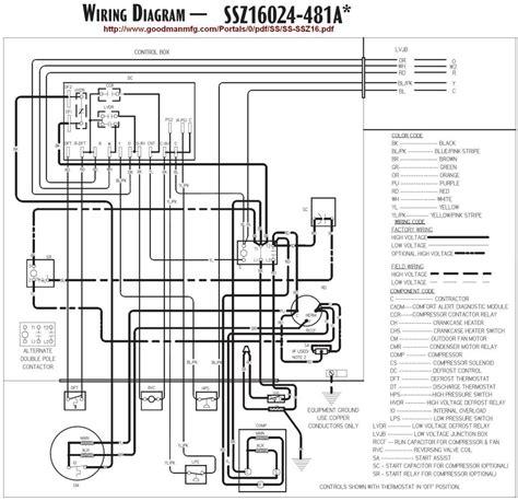 goodman heat air handler wiring diagram free wiring diagram