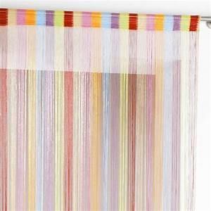 Fil Tringle Rideau : rideau de fil 140 x h240 cm circus multicolore rideau ~ Premium-room.com Idées de Décoration