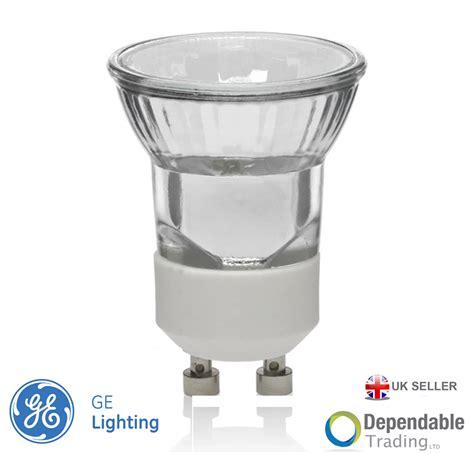 6 x ge mini gu10 halogen light bulbs 35mm small gu10 35w
