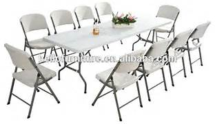 Folding Tables And Chairs Buy Online by Garden Trestle Folding 6ft Table Chairs Set Banquet Party Outdoor Chair