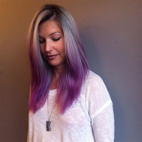 Gray To Purple Ombre Hair Colors Ideas