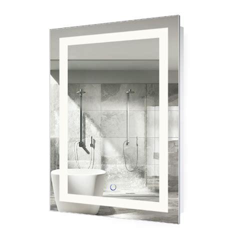led lighted  bathroom mirror  dimmer defogger